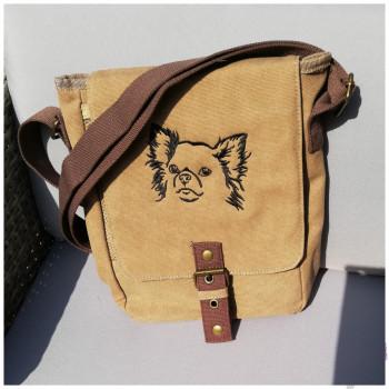 Canvas Tasche mit Motiv Chihuahua bestickt