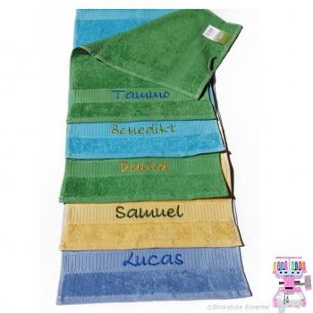 Handtuch 30x50 cm bestickt mit Wunschname