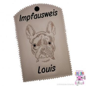 Impfpasshüllen mit Hundemotiv und Name Hunderassen ''F''