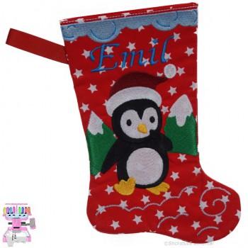 Nikolausstiefel Pinguin Name Emil Größe S