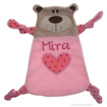 Schmusetuch Bär mit Wunschnamen