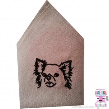 Stoffservietten mit Chihuahua bestickt 40 x 40 cm