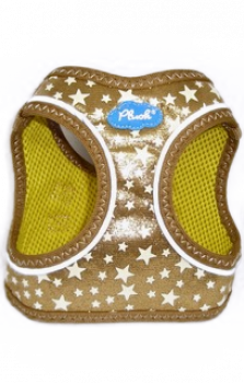 Plush Hundegeschirr Gold Glitzer