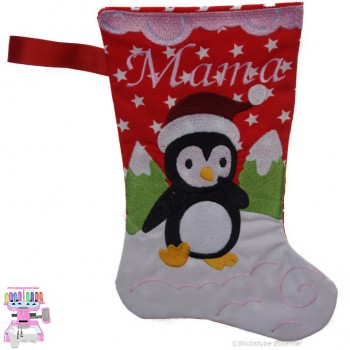 stickerei in eckental nikolausstiefel pinguin mama. Black Bedroom Furniture Sets. Home Design Ideas